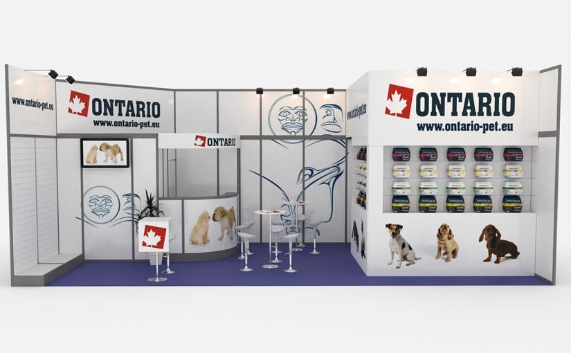ONTARIO vizualizace stánku | ONTARIO stand visualisation